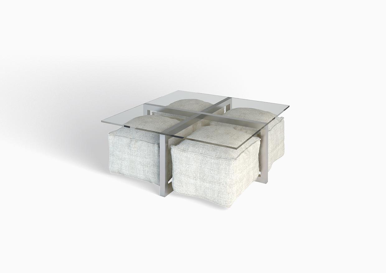 Tavolini In Vetro E Acciaio : Tavolo soggiorno design